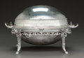 Silver Holloware, British:Holloware, A THOMAS BRADBURY & SONS GEORGE IV SILVER-PLATED CHAFFING DISH,Sheffield, England, circa 1831. Marks: (crown over)TB&S...