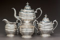 A WILLIAM GALE & SON FOUR PIECE TEA SERVICE, New York, New York, circa 1855 Marks: WM GALE & SON, NEW YORK&l...