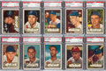 Baseball Cards:Lots, 1952 Topps Baseball High Numbers PSA EX-MT 6 Collection (10). ...