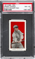 "Baseball Cards:Singles (Pre-1930), 1910 E98 ""Set of 30"" Frank Chance (Red) ""Black Swamp Find"" PSANM-MT 8 - None Higher. ..."