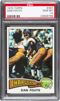 Football Cards:Singles (1970-Now), 1975 Topps Dan Fouts #367 PSA Gem Mint 10....
