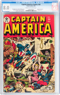 Golden Age (1938-1955):Superhero, Captain America Comics #38 (Timely, 1944) CGC VF 8.0 Cream to off-white pages....
