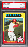 Baseball Cards:Singles (1970-Now), 1975 Topps Pete Rose #320 PSA Gem Mint 10....