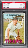 Baseball Cards:Singles (1960-1969), 1967 Topps Al Kaline #30 PSA Gem Mint 10 - Pop Two! ...