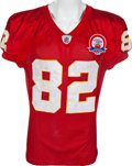 Football Collectibles:Uniforms, 2009 Dwayne Bowe Game Worn, Unwashed Kansas City Chiefs Jersey - Worn 10/25 Vs. San Diego....