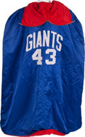 Football Collectibles:Uniforms, Mid 1960's Carl Spider Lockhart Game Worn New York Giants Sideline Cape....