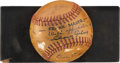 "Autographs:Baseballs, 1942 ""The Pride of the Yankees"" Cast Signed Baseball with BabeRuth, Gary Cooper...."