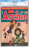 Golden Age (1938-1955):Humor, Archie Comics #8 (Archie, 1944) CGC GD+ 2.5 Light tan to off-white pages....