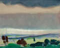Fine Art - Painting, American:Modern  (1900 1949)  , ARTHUR BEECHER CARLES (American, 1882-1952). Landscape, StormySky, circa 1912. Oil on panel. 15 x 18-1/4 inches (38.1 x...