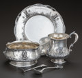 Silver & Vertu:Hollowware, A FIVE PIECE REDLICH & CO. SILVER AND SILVER GILT CHILD'S SET, New York, New York, circa 1900. Marks: (lion erased), STERL... (Total: 5 )