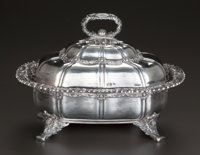 A TIFFANY & CO. CHRYSANTHEMUM PATTERN SILVER COVERED VEGETABLE SERVER, New York, New