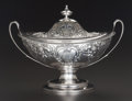 Silver Holloware, British:Holloware, A HENRY GREEN GEORGE III SILVER COVERED FOOTED BOWL, London,England, circa 1797-1798. Marks: (lion passant), (leopard's hea...