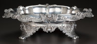 A TIFFANY & CO. CHRYSANTHEMUM PATTERN SILVER FOOTED CENTER BOWL, New York, New York