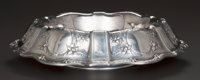AN AMERICAN SILVER CENTER BOWL, circa 1920 Marks: STERLING, 6321, 16IN. 4 inches high x 16 inches di