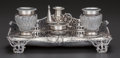 Silver Holloware, British:Holloware, A CHARLES THOMAS & GEORGE FOX VICTORIAN SILVER INKSTAND, LondonEngland, circa 1846-1847. Marks: (lion passant), (leopard's ...