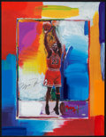 Basketball Collectibles:Others, Michael Jordan Signed Peter Max Lithograph. ...