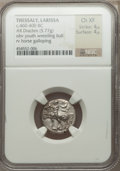 Ancients:Greek, Ancients: THESSALY. Larissa. Ca. 460-400 BC. AR drachm (5.77gm). ...