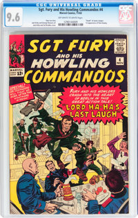 Sgt. Fury and His Howling Commandos #4 (Marvel, 1963) CGC NM+ 9.6 Off-white to white pages