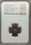 Ancients:Greek, Ancients: ACHAEAN LEAGUE. Aegium. Ca. 37-31 BC. AR hemidrachm (2.33gm). ...