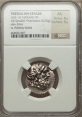 Ancients:Greek, Ancients: THESSALY. Thessalian League. Ca. 196-146 BC. AR doublevictoriatus (6.26 gm)....