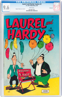 Laurel and Hardy #2 Vancouver pedigree (St. John, 1949) CGC NM+ 9.6 White pages