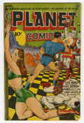 Golden Age (1938-1955):Science Fiction, Planet Comics #34 (Fiction House, 1945) Condition: Qualified FN/VF.Joe Doolin Bondage cover. Murphy Anderson, Lee Elias, an...