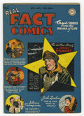 Golden Age (1938-1955):Non-Fiction, Real Fact Comics #4 (DC, 1946) Condition: VF+. Virgil Finlay andGeorge Roussos art. Jimmy Stewart, Jack London, and Joe DiM...