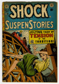Golden Age (1938-1955):Horror, Shock SuspenStories #13 (EC, 1954) Condition: FR. Featuring FrankFrazetta's only solo story for EC (seven pages). The issue...