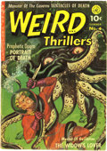 Golden Age (1938-1955):Horror, Weird Thrillers #4 (Ziff-Davis, 1952) Condition: VG-. Joe Kubertand George Tuska art. Overstreet 2006 VG 4.0 value = $120....