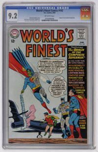 World's Finest Comics #142 (DC, 1964) CGC NM- 9.2 Off-white pages. Origin of the Composite Superman. Legion of Super-Her...