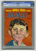 """Magazines:Mad, Mad #39 (EC, 1958) CGC VF/NM 9.0 Off-white pages. """"Saturday EveningPost"""" spoof. Cover has Alfred E. Newman composed from a ..."""