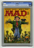 "Magazines:Mad, Mad #43 (EC, 1958) CGC VF/NM 9.0 Cream to off-white pages. ""The Endof Comics"" parody with Little Orphan Annie, Dick Tracy, ..."
