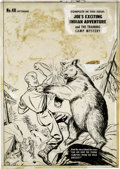 Original Comic Art:Covers, Al Avison (attributed) - Joe Palooka #48 Cover Original Art(Harvey, 1950). Joe takes a swing at a wild grizzly bear, to sav...