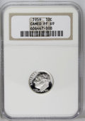 Proof Roosevelt Dimes: , 1959 10C PR69 Cameo NGC. NGC Census: (48/0). PCGS Population(15/0). Numismedia Wsl. Price: $200.(#85234)...