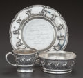 Silver Holloware, American:Child's Cups, A THREE PIECE GORHAM SILVER CHILD'S SET, Providence, Rhode Island,circa 1905. Marks: (lion-anchor-G), STERLING, A4480; A4...(Total: 3 )