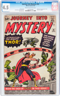 Silver Age (1956-1969):Superhero, Journey Into Mystery #83 (Marvel, 1962) CGC VG+ 4.5 Cream to off-white pages....