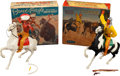 """Non-Sport Cards:Other, Vintage Hartlands - """"Brave Eagle"""" and """"Cochise"""" Statues Pair (2) -Both With Original Boxes! ..."""