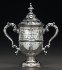 A REED & BARTON SILVER COVERED CUP: IN MEMORY OF JOHN PHILIP SOUSA, 1854-1932, Taunt