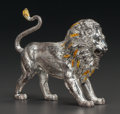 Silver Smalls:Other , A TIFFANY & CO. SILVER AND ENAMEL CIRCUS LION, Made in Italyfor Tiffany & Co., New York, New York, Designed by Gene Moore,...