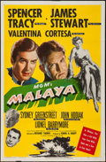 "Movie Posters:Adventure, Malaya (MGM, 1949). One Sheet (27"" X 41""). Adventure.. ..."