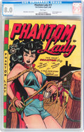 Golden Age (1938-1955):Superhero, Phantom Lady #17 (Fox Features Syndicate, 1948) CGC VF 8.0 Pink pages....