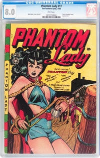 Phantom Lady #17 (Fox Features Syndicate, 1948) CGC VF 8.0 Pink pages