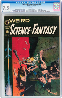 Weird Science-Fantasy #29 (EC, 1955) CGC VF- 7.5 White pages