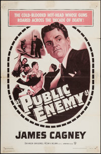 """The Public Enemy (Warner Brothers, R-1954). One Sheet (27"""" X 41""""). Crime"""