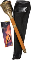 Olympic Collectibles:Autographs, 1984 Los Angeles Summer Olympics Torch In Original Packaging. ...
