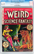 Golden Age (1938-1955):Science Fiction, Weird Science-Fantasy Annual #1 (EC, 1952) CGC FN 6.0 Off-white to white pages....