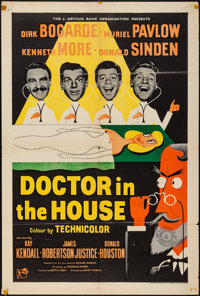 "Doctor in the House (Republic, 1953). British One Sheet (27"" X 40""). Comedy"