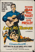 "Movie Posters:Elvis Presley, Love Me Tender (20th Century Fox, 1956). One Sheet (27"" X 41"").Elvis Presley.. ..."