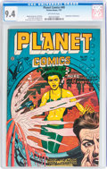 Golden Age (1938-1955):Science Fiction, Planet Comics #49 (Fiction House, 1947) CGC NM 9.4 Off-white pages....