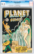 Golden Age (1938-1955):Science Fiction, Planet Comics #56 (Fiction House, 1948) CGC NM- 9.2 Off-white towhite pages....